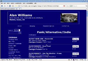 Alan Williams web site
