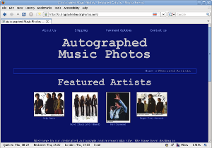 Autographed Music Photos web site