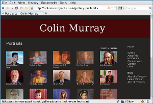 Colin Murray web site